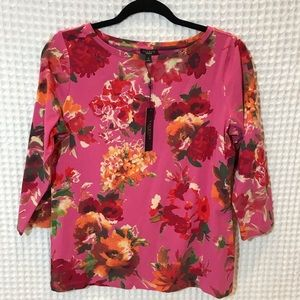NWT Talbots floral top. Sz M